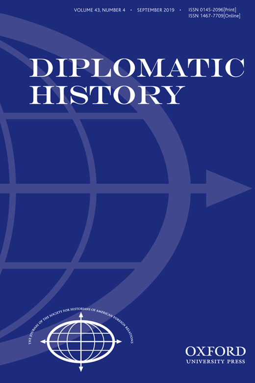 Diplomatic History cover